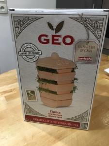 packaging en carton du germoir en terre cuite geo terra