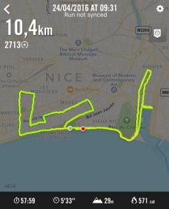 trajet nike running course hoke one one nice 2016